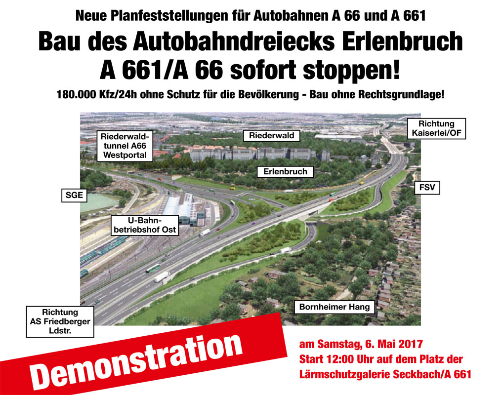 Aufruf Zur Demonstration Ad Erlenbruch Riederwaldtunnel Aua